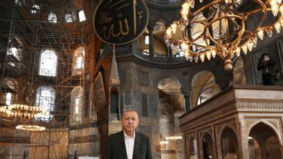 After the grand opening. New decision by President Erdogan on Aya Sofia